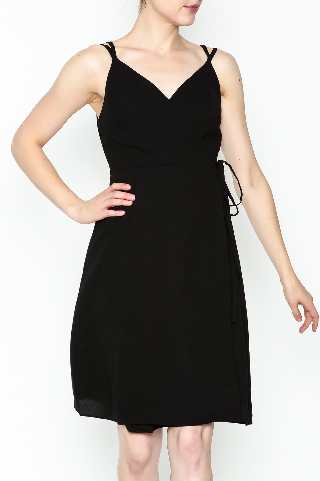 Esley Faux Wrap Dress - Front Cropped Image