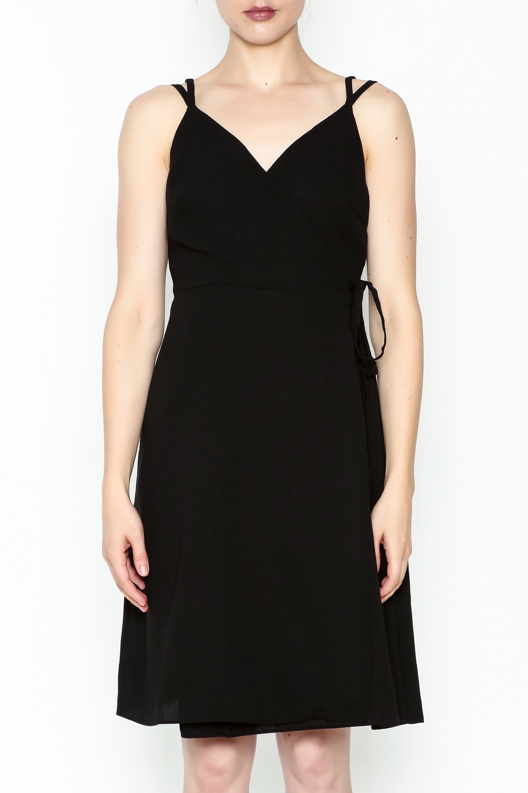 Esley Faux Wrap Dress - Front Full Image