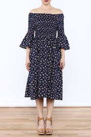 Esley Floral Midi Dress - Front cropped