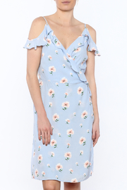 Esley Blue Floral Wrap Dress - Product Mini Image