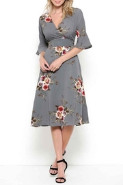 Esley Graceful Grey Floral - Front full body