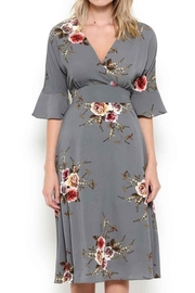 Esley Graceful Grey Floral - Side cropped
