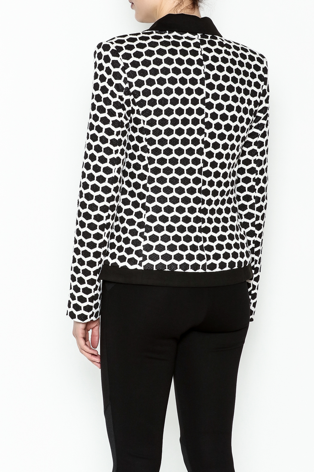 Esley Honeycomb Blazer - Back Cropped Image
