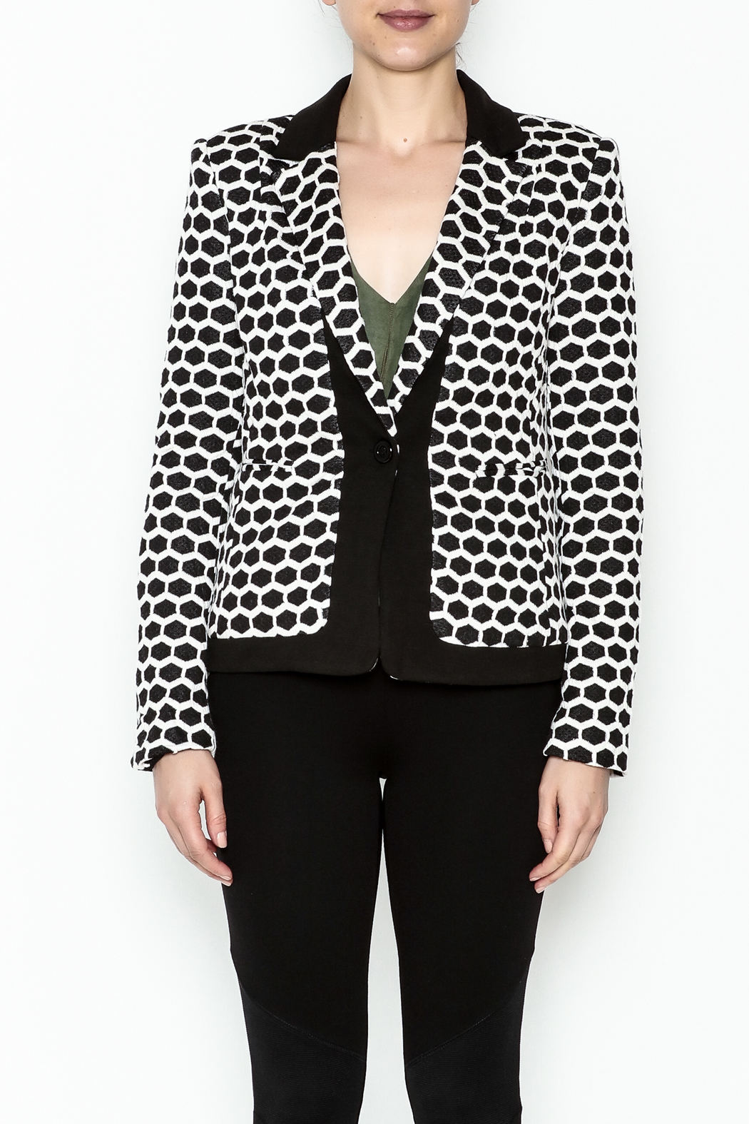 Esley Honeycomb Blazer - Front Full Image