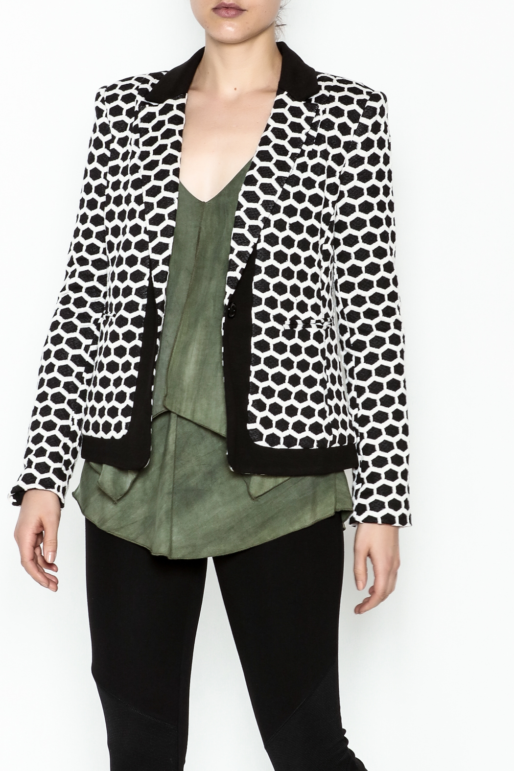 Esley Honeycomb Blazer - Main Image