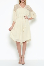 Esley Ivory Shift Dress - Product Mini Image