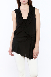 Esley Black Surplice Tunic Top - Product Mini Image