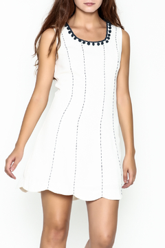 Esley Pretty Navy Details Dress - Product List Image