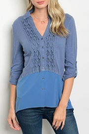Esley Slate Blue Blouse - Product Mini Image