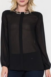 Esley Stone Collar Blouse - Front cropped