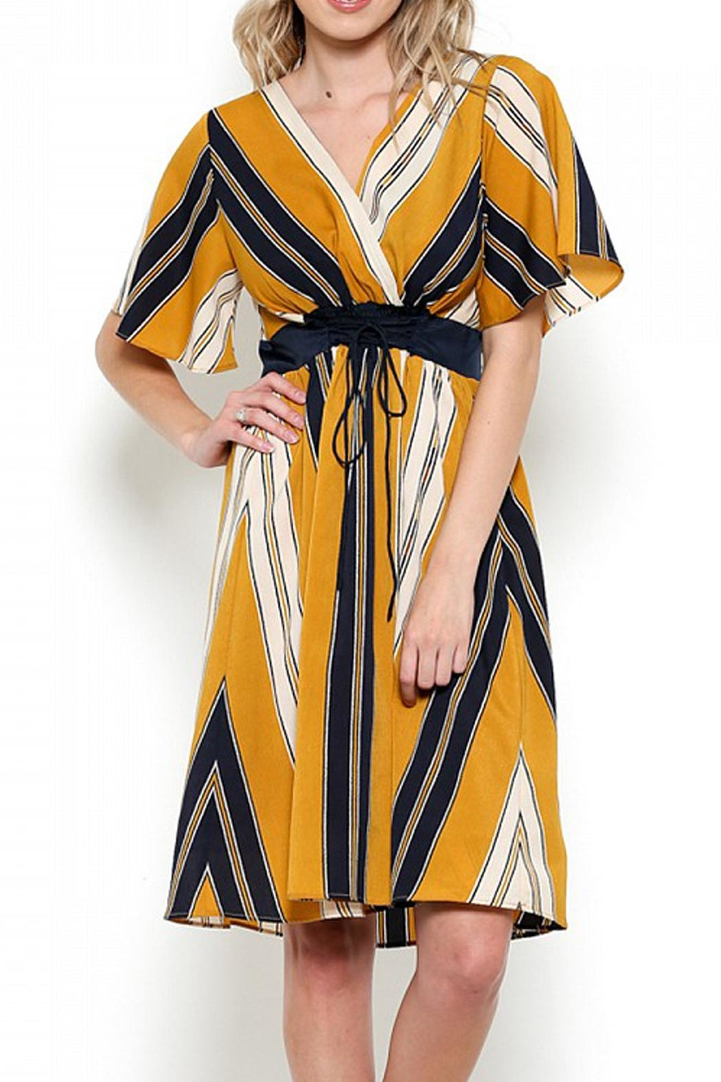 Esley Striped Corset Dress - Main Image