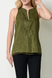 Esley Suede Keyhole Top - Product Mini Image
