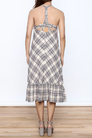 Esley Tartan Plain Dress - Back cropped