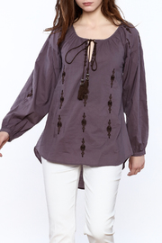Esley Purple Long Sleeve Top - Product Mini Image