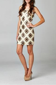 Esley Tribal Sequins Dress - Product List Image