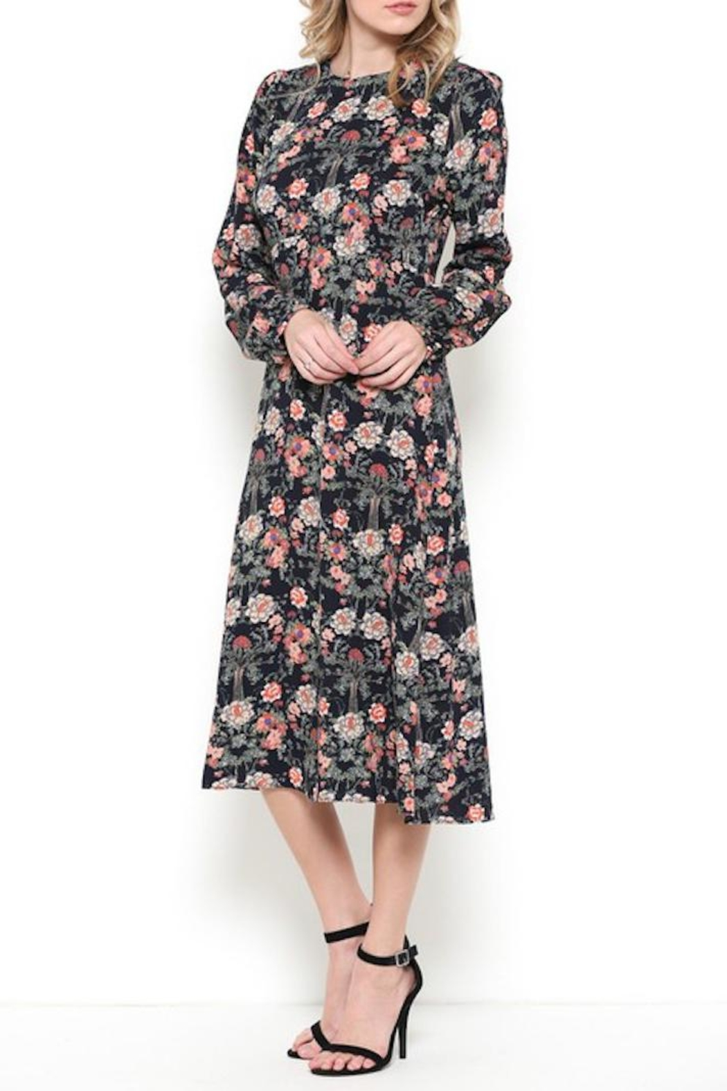 Esley Vintage Navy Floral - Side Cropped Image
