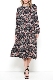 Esley Vintage Navy Floral - Front full body