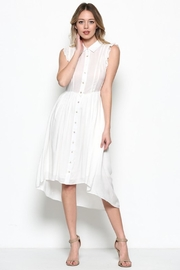 Esley White Babydoll Midi - Product Mini Image