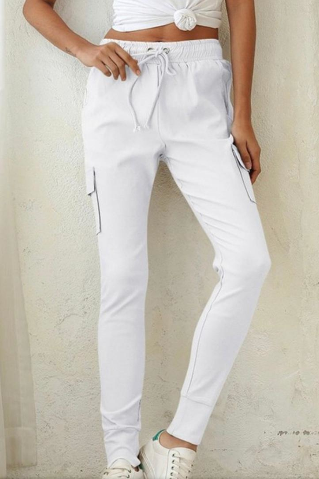 Esley White Jogger Pant - Main Image