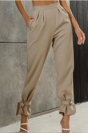 Esley Collection Ankle Tie Pants - Product Mini Image