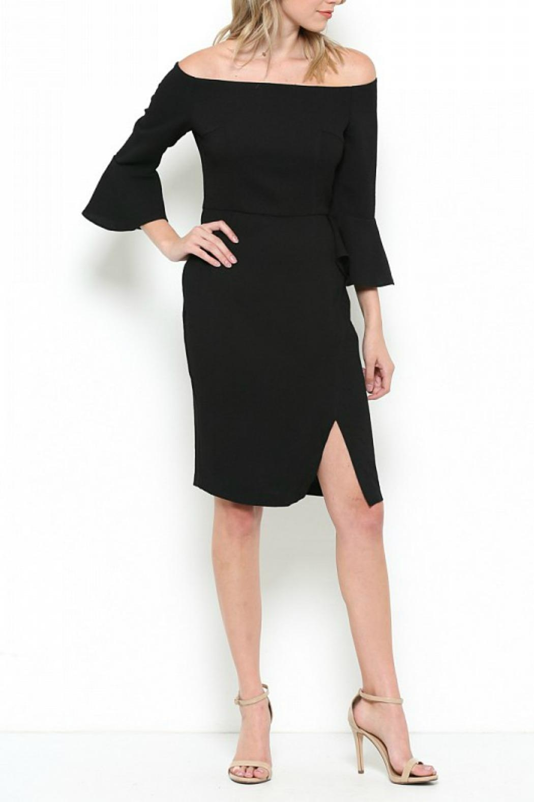 Esley Collection Bell Sleeve Dress - Front Full Image