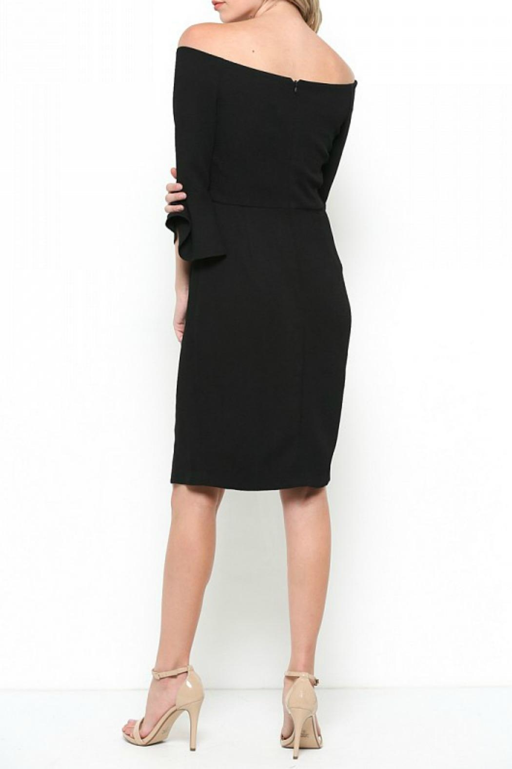 Esley Collection Bell Sleeve Dress - Back Cropped Image