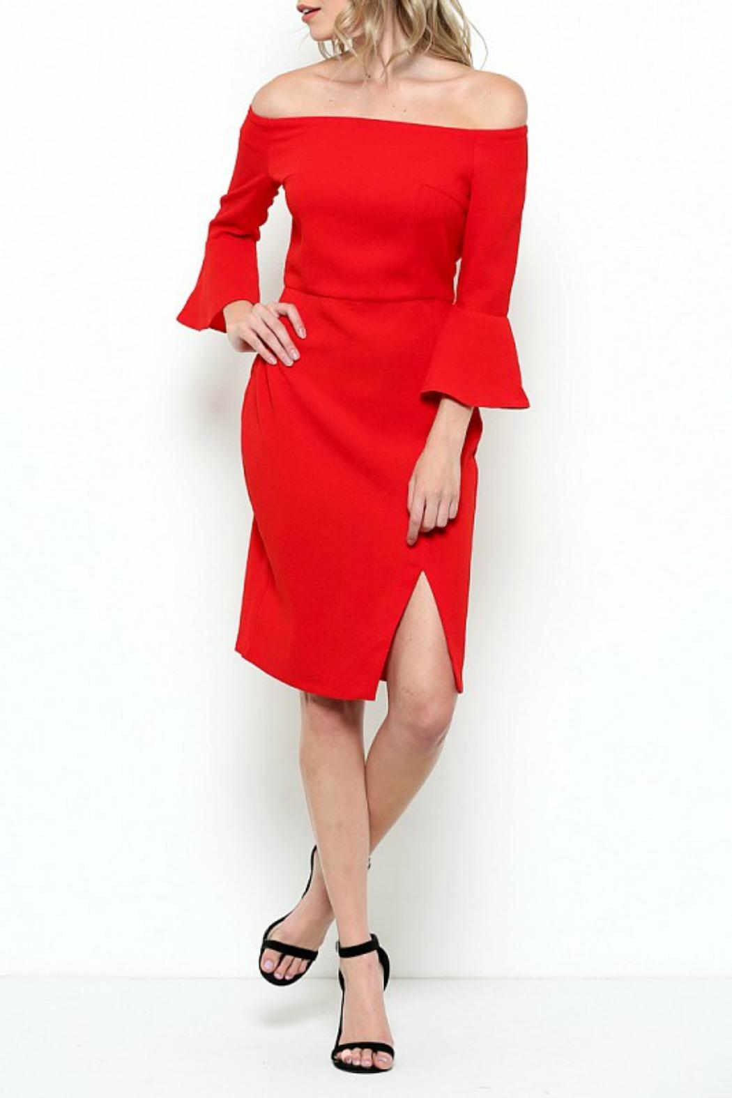 Esley Collection Bell Sleeve Dress - Main Image