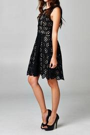 Esley Collection Black Floral Crochet - Front full body