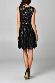 Esley Collection Black Floral Crochet - Side cropped