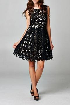 Esley Collection Black Floral Crochet - Product List Image