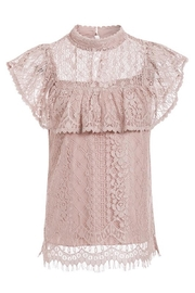 Esley Collection Blush Lace Detail Blouse - Back cropped
