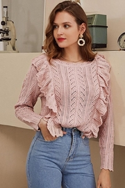 Esley Collection Blushing Over You Sweater - Front full body