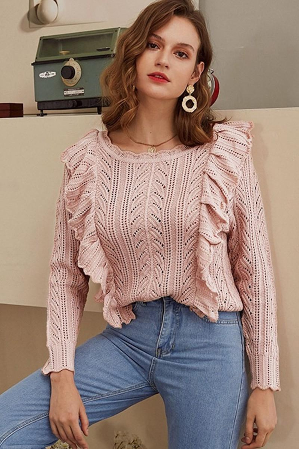 Esley Collection Blushing Over You Sweater - Main Image