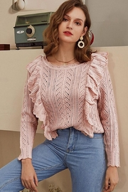 Esley Collection Blushing Over You Sweater - Front cropped