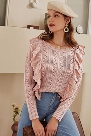 Esley Collection Blushing Over You Sweater - Back cropped