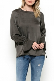 Esley Collection Bow Tie Bell Top - Front cropped