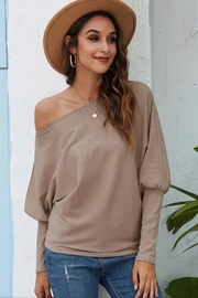 Esley Collection Bubble Sleeve Top - Product Mini Image