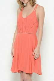Esley Collection Coral Racerback Dress - Front cropped
