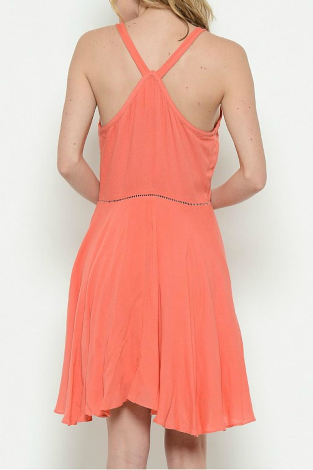 Esley Collection Coral Racerback Dress - Front Full Image