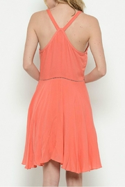 Esley Collection Coral Racerback Dress - Front full body