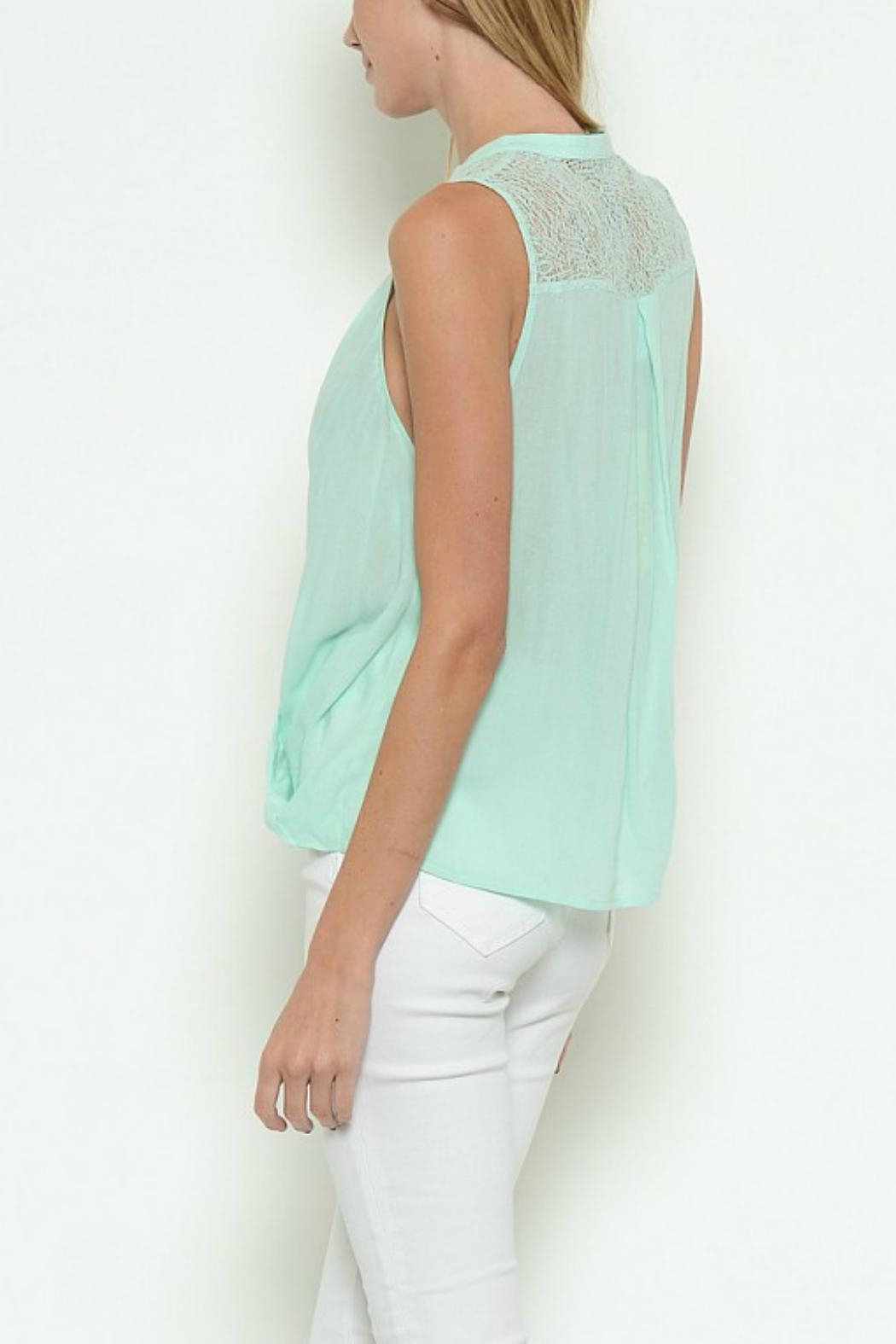 Esley Collection Crossover Mock-Neck Top - Front Full Image