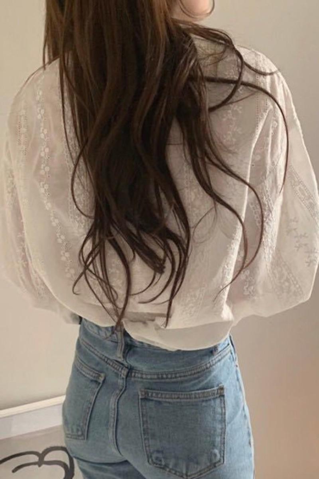 Esley Collection Dainty Darling White Blouse - Back Cropped Image