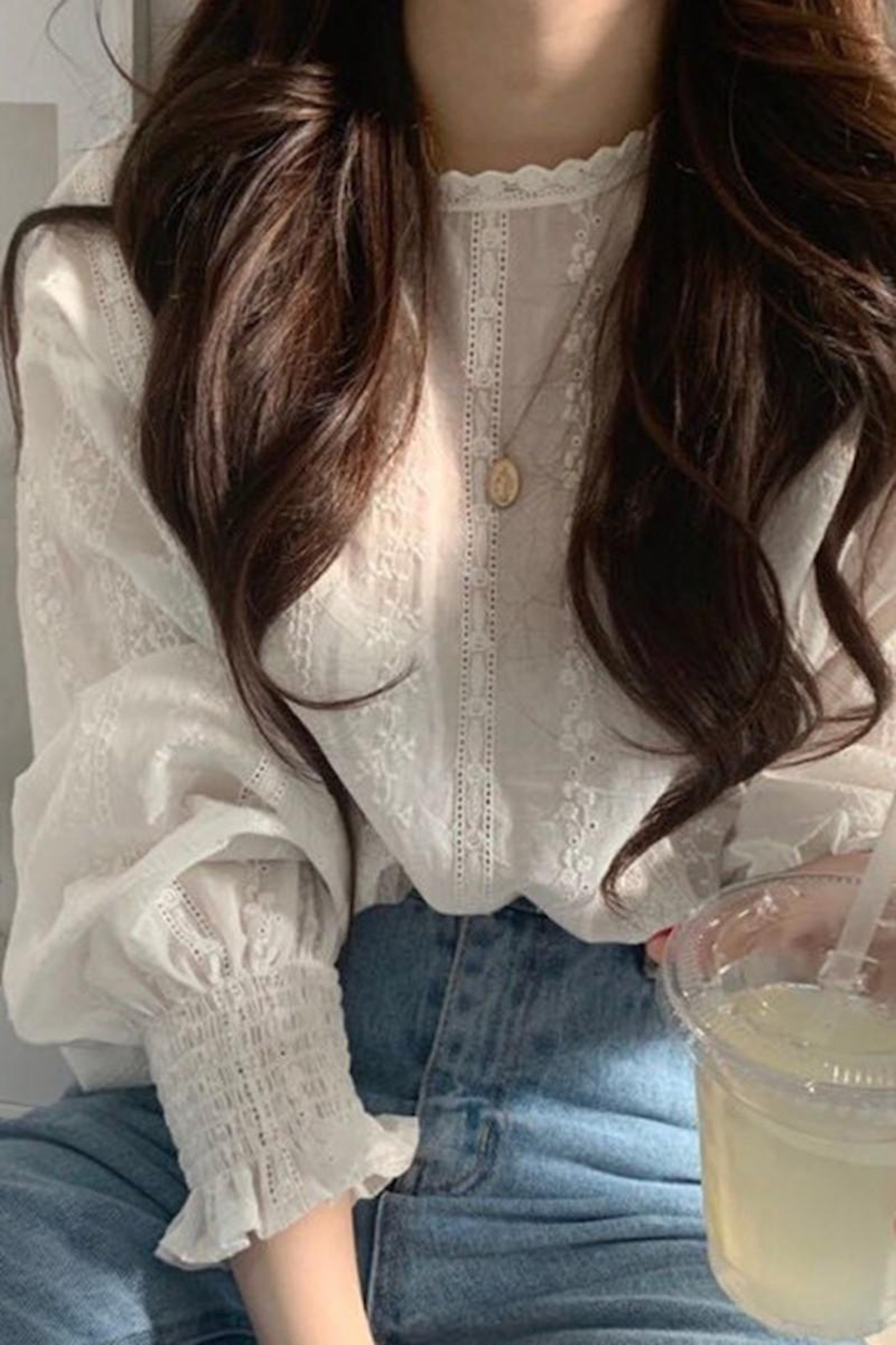 Esley Collection Dainty Darling White Blouse - Main Image