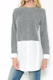 Esley Collection Layered Knit Top - Product Mini Image