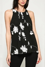 Esley Collection Embroidered Chiffon Top - Product Mini Image