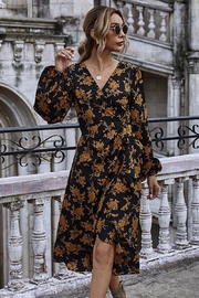 Esley Collection Fall Golden Floral Maxi - Product Mini Image