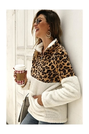 Esley Collection Fleece Pullover Top - Product Mini Image