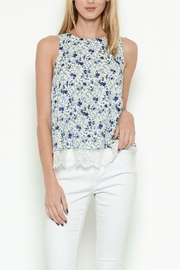 Esley Collection Floral Lace Top - Product Mini Image