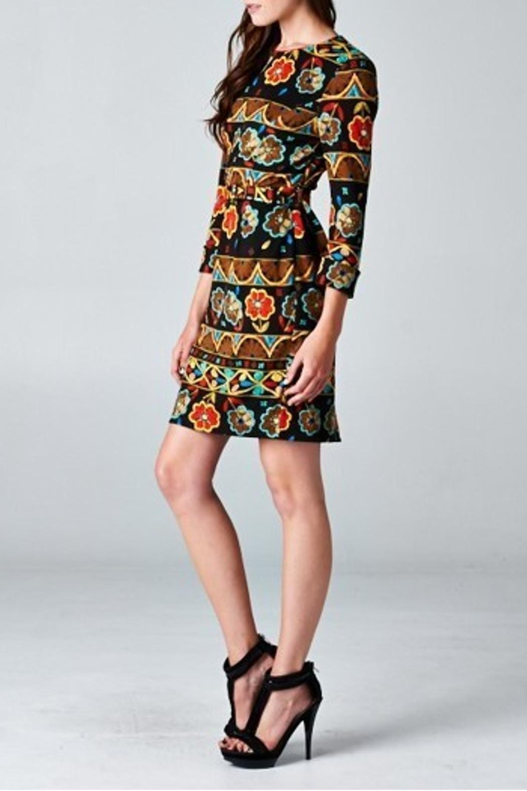 Esley Collection Floral Printed Pattern - Front Full Image