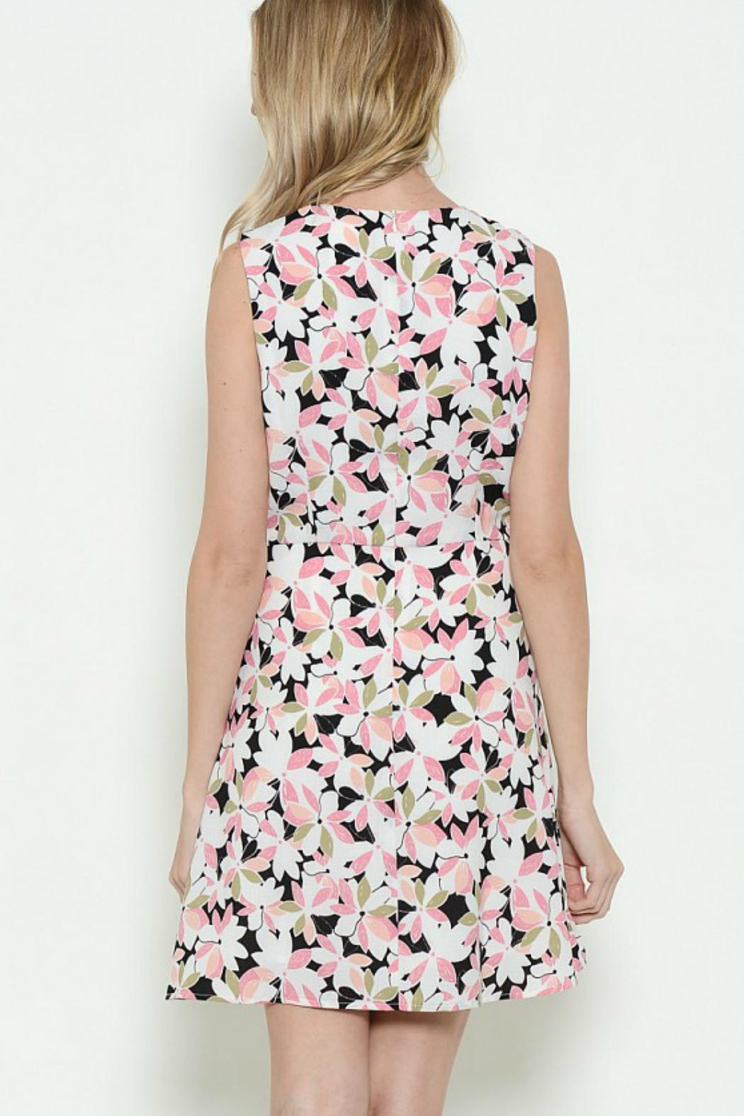 Esley Collection Floral Sleeveless Dress - Front Full Image